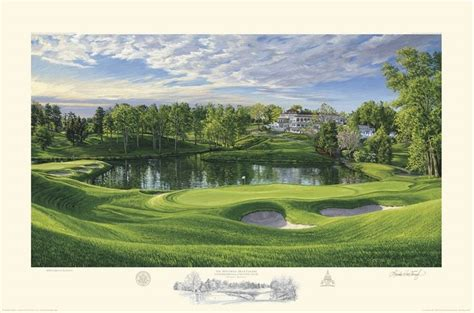 35 best images about us open golf course paintings on pinterest pebble beach artworks and