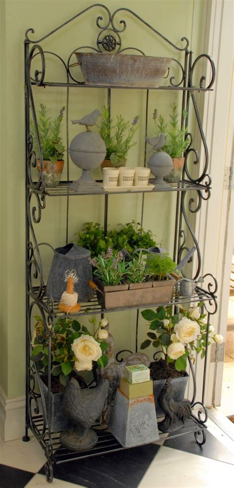 Bakers Rack For Plants by Outdoor Bakers Rack Plant Stand Woodworking Projects Plans