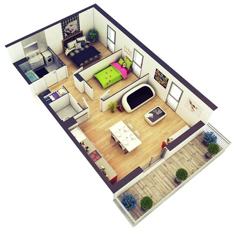 Diy 3d Home Design | 20 more 2 bedroom 3d floor plans home decoratings and diy
