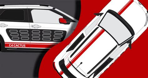 Racing Paradise Sticker by Stickers Citroen Cactus Bande Racing Complet