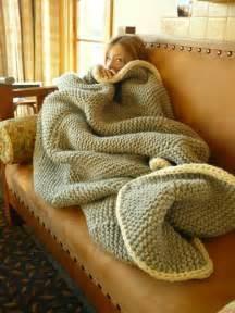 Big Cozy chunky knit blanket diy