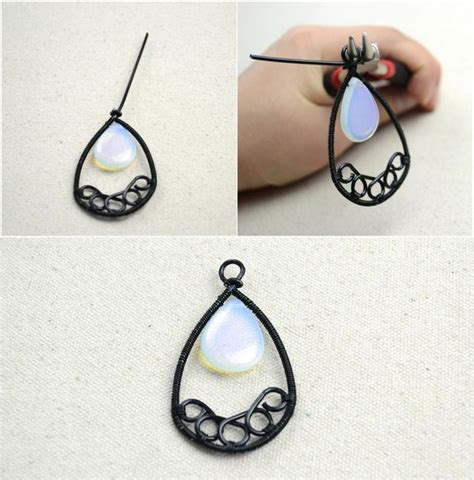 Make Handmade Earrings - handmade jewelry ideas wire wrapped chandelier earrings