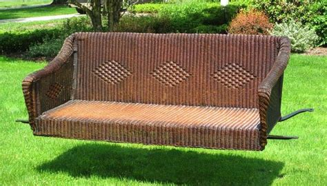 antique wicker porch swing art deco wicker porch swing at 1stdibs