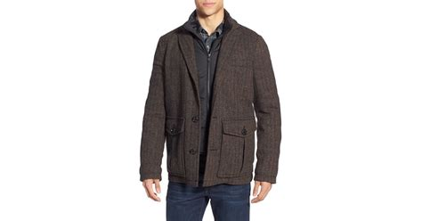 Fashion Burberry 3in1 pendleton fremont 3 in 1 hybrid blazer with removable vest liner in green for lyst