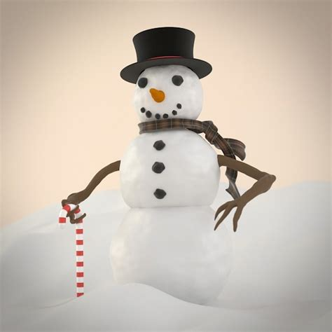 How To Make A 3d Snowman Out Of Paper - blender 187 blobernet
