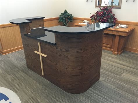 Custom Made Reception Desks Custom Made Curved Oak Reception Desk By Craft Made In The Usa Custommade