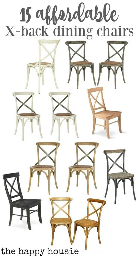 friday s finds affordable x back cafe style dining chairs