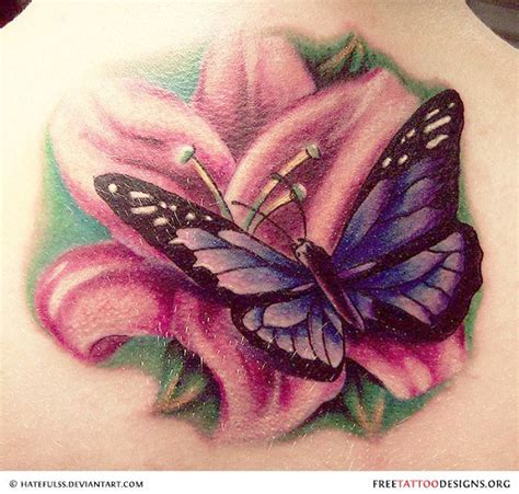 tattoo flower with butterfly 25 cool butterfly tattoo designs aha daily