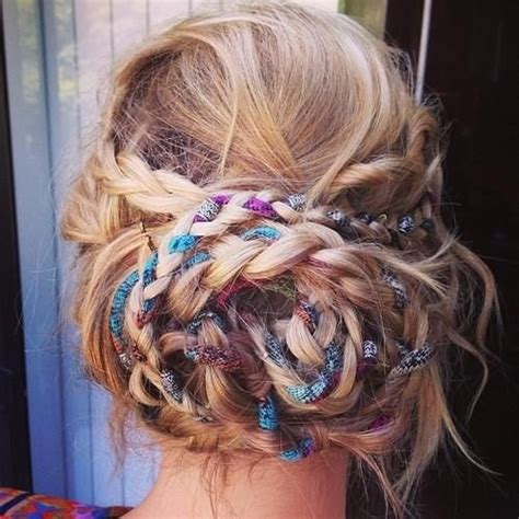 braided hairstyles hippie 20 pretty braided updo hairstyles popular haircuts