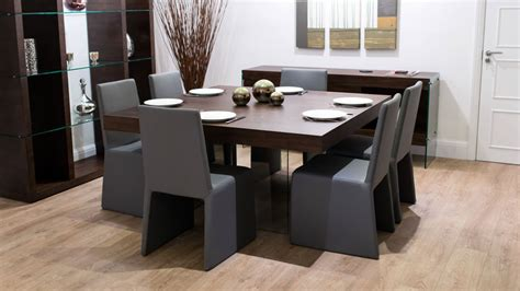 furniture seductive dark wood square dining room table 8 seater square dark wood dining table and chairs funky