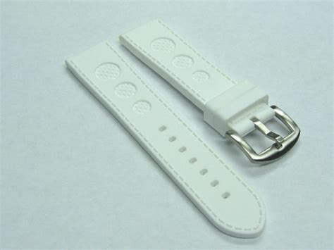u boat watch replacement parts 24mm rubber strap watch band for u boat 48mm luminox white
