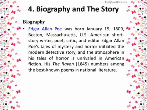 biography of edgar allan poe summary a psychoanlysis the black cat