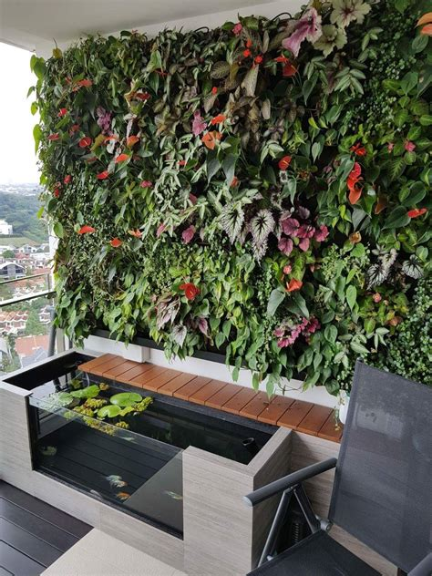 green wall aquaponics indoor water garden ponds