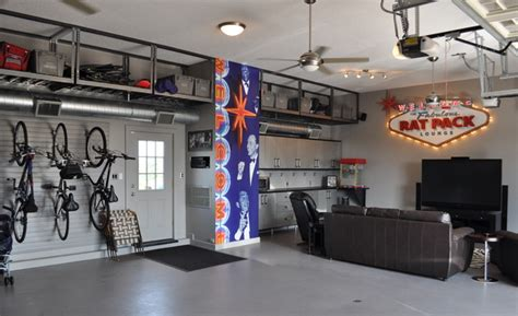 Multipurpose Furniture For Small Spaces by Converting Your Garage Into The Ultimate Entertainment Space