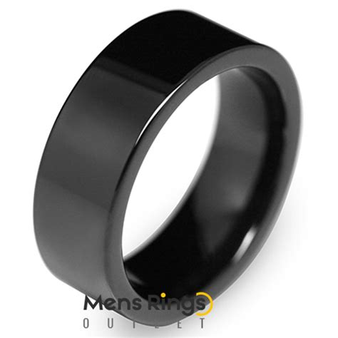 jet black ionic plated tungsten ring mens rings outlet