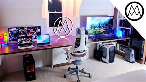 Gaming Setup Desk by Ultimate 15 000 Gaming Setup Desk Tour 2017
