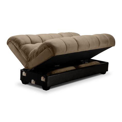 Sofa Beds And Futons American Signature Furniture Ara Upholstery Futon Sofa Bed With Storage