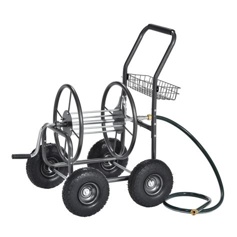 muscle carts  ft capacity outdoor water hose reel cart