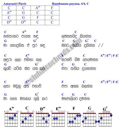 hanthaneta payana | music | pinterest | guitar chords