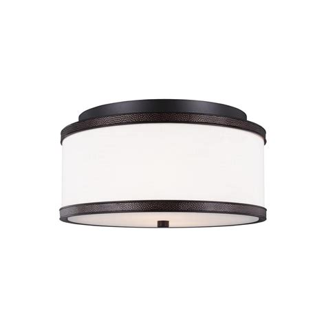 oil rubbed bronze medicine surface mount feiss marteau 2 light oil rubbed bronze flush mount