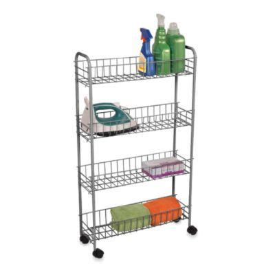 rolling bathroom cart buy rolling cart from bed bath beyond