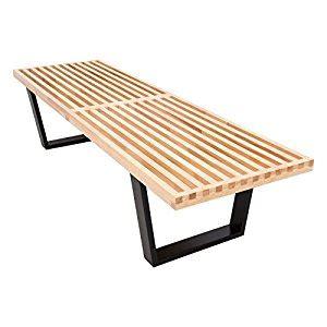 george nelson style bench amazon com leisuremod mid century george nelson style platform bench in 5 feet