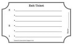 Ticket Out The Door Template by Exit Ticket On Exit Tickets Exit Slips And