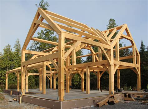 frame a house a timber frame house for a cold climate part 1
