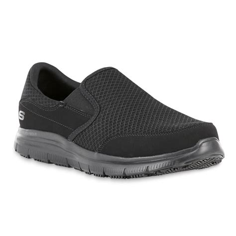skechers s mcallen relaxed fit black non slip work