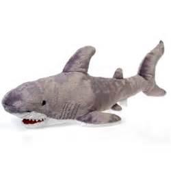 shark plush large stuffed great white shark 29 inch plush animal by fiesta