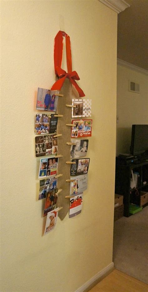 how to display christmas cards how to display holiday cards diy burlap wall christmas