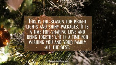 season  bright lights  shiny packages    time  sharing love