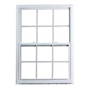 american craftsman 36 in x 60 in 2300 series single hung fin vinyl window with grilles white