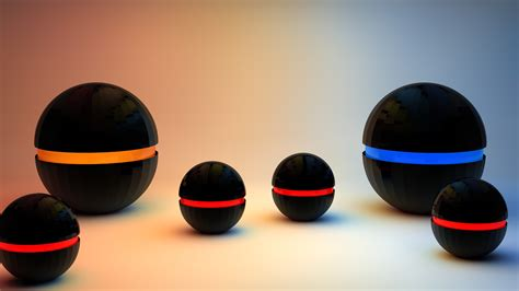balls digital art objects render   wallpaper