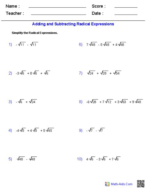 Radical Worksheets exponents and radicals worksheets exponents radicals