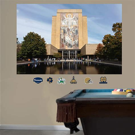 notre dame home decor notre dame hesburgh library mural wall decal shop