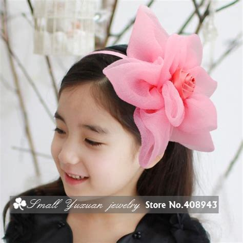 Top 7 Flower Accessories by 7 Colors New Fashion High Quality Chiffon Headbands Baby