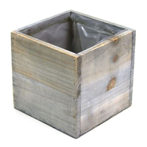Square Wood Vase by 5