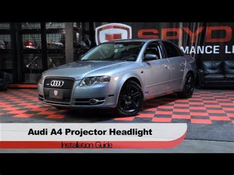 audi a4 2006 led headlights spyder auto installation 2006 08 audi a4 led drl