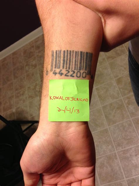 barcode tattoos designs ideas and meaning tattoos for you