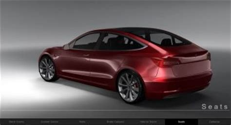 Tesla Configurator Interactive Tesla Model 3 Configurator Render Is Truly Amazing