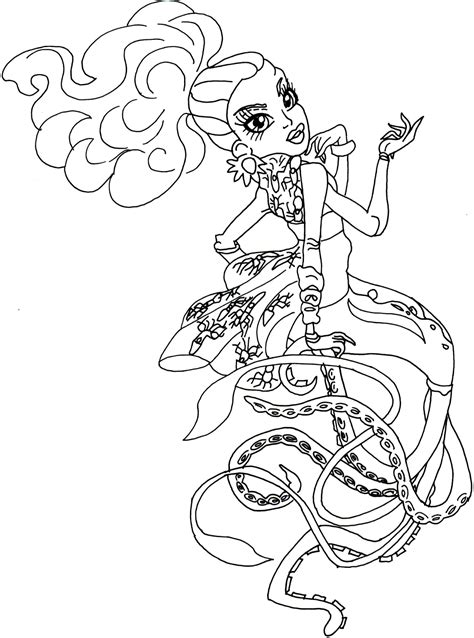 monster high scarrier reef coloring pages free printable monster high coloring pages kala mer ri