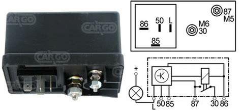 Cartier Kw W Car 101 new glow heater timer relay 12v 6 terminal universal