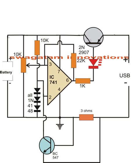 lithium battery charger schematic usb li ion battery charger circuit auto cut and