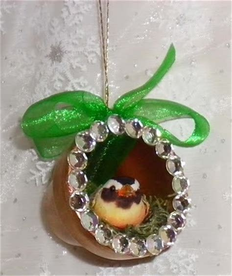 how to make a birds nest for xmas tree bird s nest clay pot ornaments favecrafts