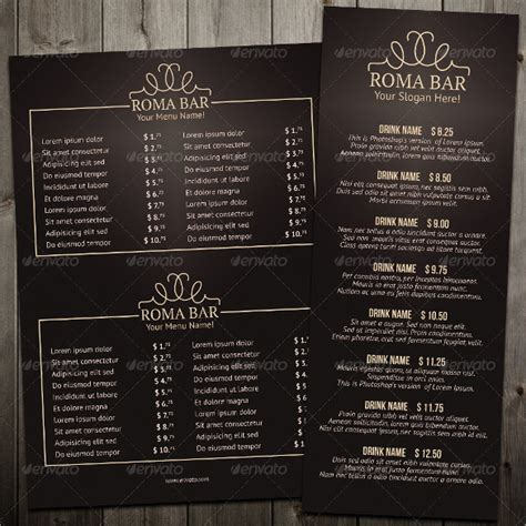 bar menu templates 35 free psd eps documents download