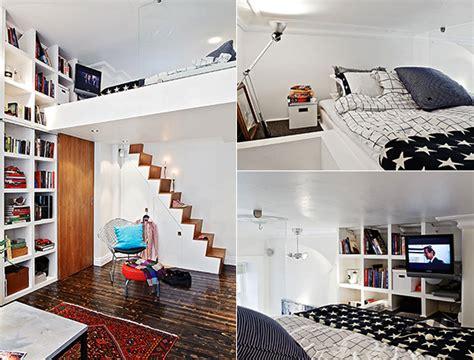 Kleines Wohn Schlafzimmer Einrichten by Die Kleine Wohnung Einrichten Mit Hochhbett Freshouse