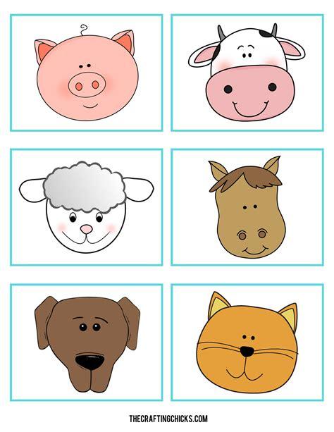 printable mask farm animals printable animal faces farm animal tags printable pages