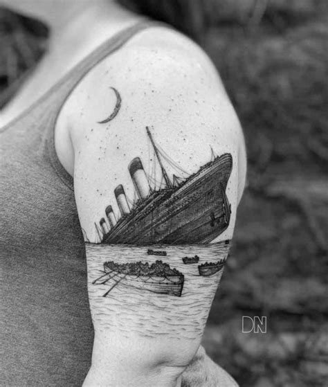 titanic tattoo on shoulder best tattoo ideas gallery