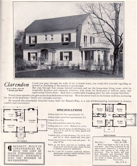 dutch colonial revival house plans 1922 clarendon by bennett homes dutch colonial revival